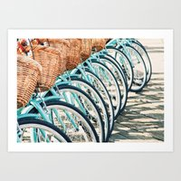 bicycles Art Prints featuring Bicycles by Jewels