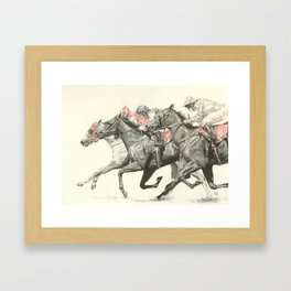 Pink for a Place Framed Art Print