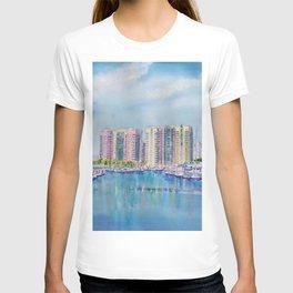 Aqua Towers and Marina in Long Beach T-shirt