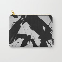 Abstract & Minimalist Black and white Carry-All Pouch