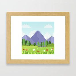 Nature landscape moutain Framed Art Print