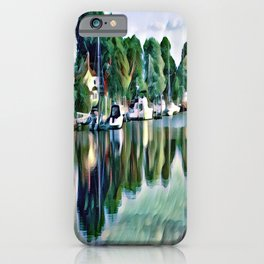 Lagoon Reflections iPhone Case
