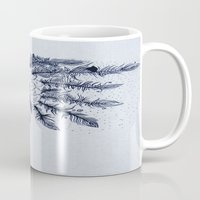 native american Mugs featuring Native American by Anna Flowers