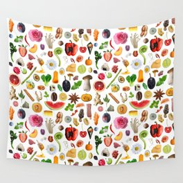 Food Doodles Wall Tapestry