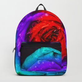 Colorful Rose Backpack