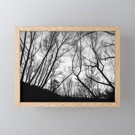 Winter trees pattern Framed Mini Art Print