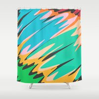 kids Shower Curtains featuring Kids by Celery Woulise