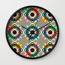Acheri - Colorful Dotted Pattern Wall Clock