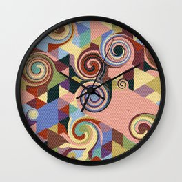 Swirl Deconstruction Wall Clock