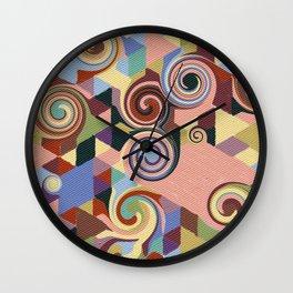 Swirl Deconstruction Wall Clock
