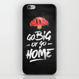 Go Big or Go Home Mario Inspired Smash Art iPhone Skin