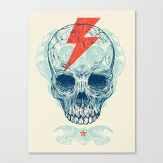 Skull Bolt Canvas Print