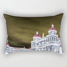 inverted parliment building Rectangular Pillow