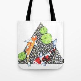 Koi watercolor Tote Bag