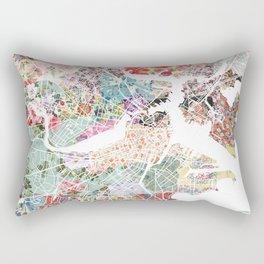 Boston map portrait Rectangular Pillow