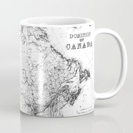 Vintage Map of Canada (1898) BW Coffee Mug