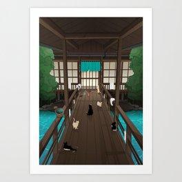 A Japanese summer night Art Print