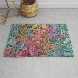 Mosaic Rose Abstract Rug