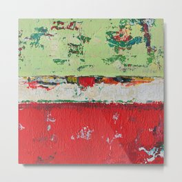 Dixon Red Green Abstract Painting Print Metal Print