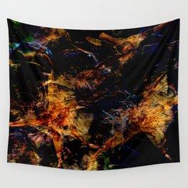 Dark Flower Press Pattern Wall Tapestry