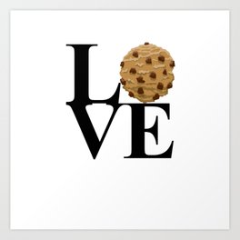 LOVE Cookies Art Print