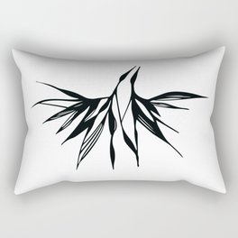 "Black and white print ""A Couple"" Rectangular Pillow"