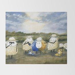 Sheep Painting Throw Blanket