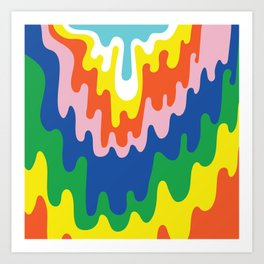 Psychedelic Meltdown Art Print