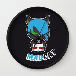Mad cat Wall Clock