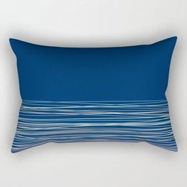 Blue thread , abstract Rectangular Pillow