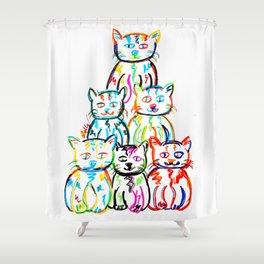 Pop-art Kitties Shower Curtain