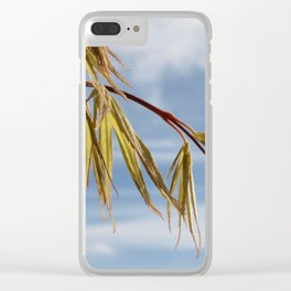ACER TREE BRANCH SPRING LEAVES Clear iPhone Case