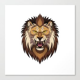 Lion's head Canvas Print