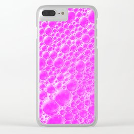 Champagne Bubbles Collection: #4 – Cotton Candy Pink Clear iPhone Case