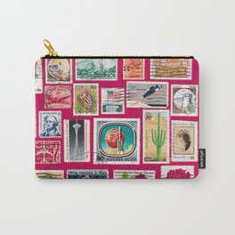 Stamp Collage Carry-All Pouch