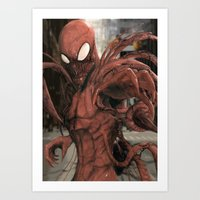 carnage Art Prints featuring Carnage by Nick Fernandez