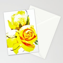 Yellow Roses Stationery Cards