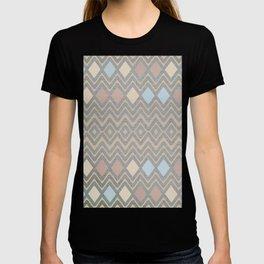 Woven Geometry - Fabric ZigZag Pattern Pastel T-shirt