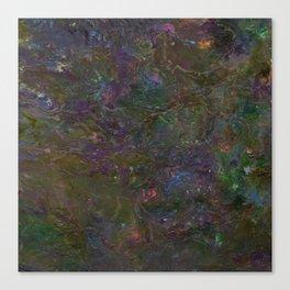 Purple Green Marble Canvas Print