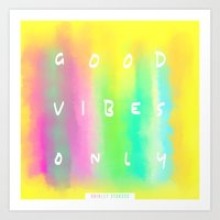 good vibes only Art Prints featuring Good Vibes Only by Shirley Starsss