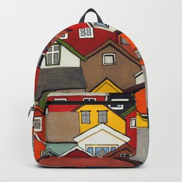 Colourful Houses Backpack