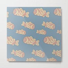Colorful fish pattern Metal Print