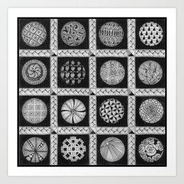 Zentangle®-Inspired Art - ZIA 49 Art Print