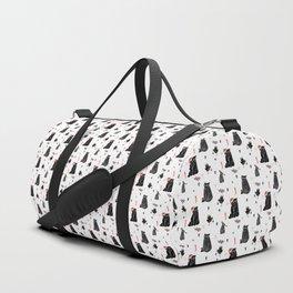Christmas black and white animals Duffle Bag