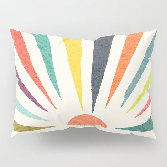 Rainbow ray Pillow Sham