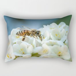 Bee In Garden Rectangular Pillow