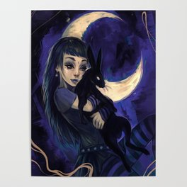 Hare in the moon Poster