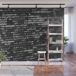 The Code (Black and White) Wall Mural