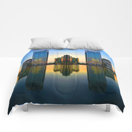 Mirrored in Water Comforters