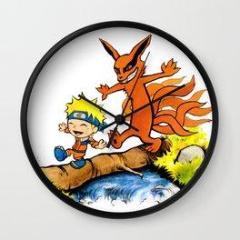 Homicidal Psycho Ninja Fox Wall Clock